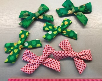 Valentines and Saint Patrick's School Girl Piggie Tail Sets