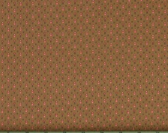 Brown Geometric Print 100% Cotton Quilt Fabric for Sale, Kim Diehl's Katie's Cupboard Collection for Henry Glass Fabrics, HEG6678-33