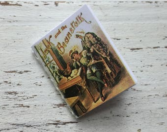 """Miniature Book, """"Jack and the Beanstalk"""", Readable Book with Illustrations, Dollhouse Miniature, 1:12 Scale, Mini Book with Text"""