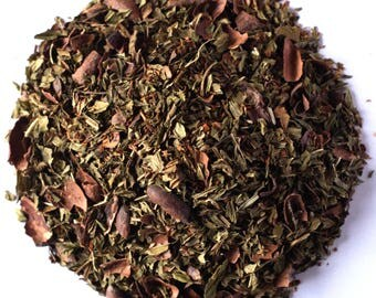 AFTER EIGHT TEA (Organic, Loose Leaf Vanilla Rooibos, with Mint and Chocoate)