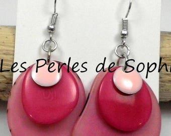 Tagua petals earrings