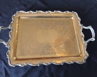 Vintage Silver Tray Platter Joanne 7290, Wilcox International Silver Co.