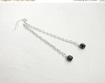 Summer Sale Long chain earrings minimalist long earrings long dangle earrings grey white bead earrings for women