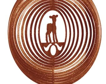 Lamb Sheep COMBO Swirly Metal Wind Spinner