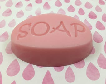 Grapefruit Soap | Pink Grapefruit Scent Pink Goat's Milk S.O.A.P | Guest Size Soap Bar | Hostess Gift | Gift for Her | Travel Size Soap