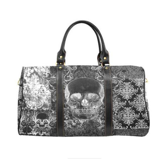 Shabby Chic Skull waterproof handbag