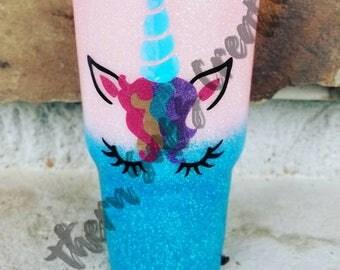 Unicorn Glitter Tumbler