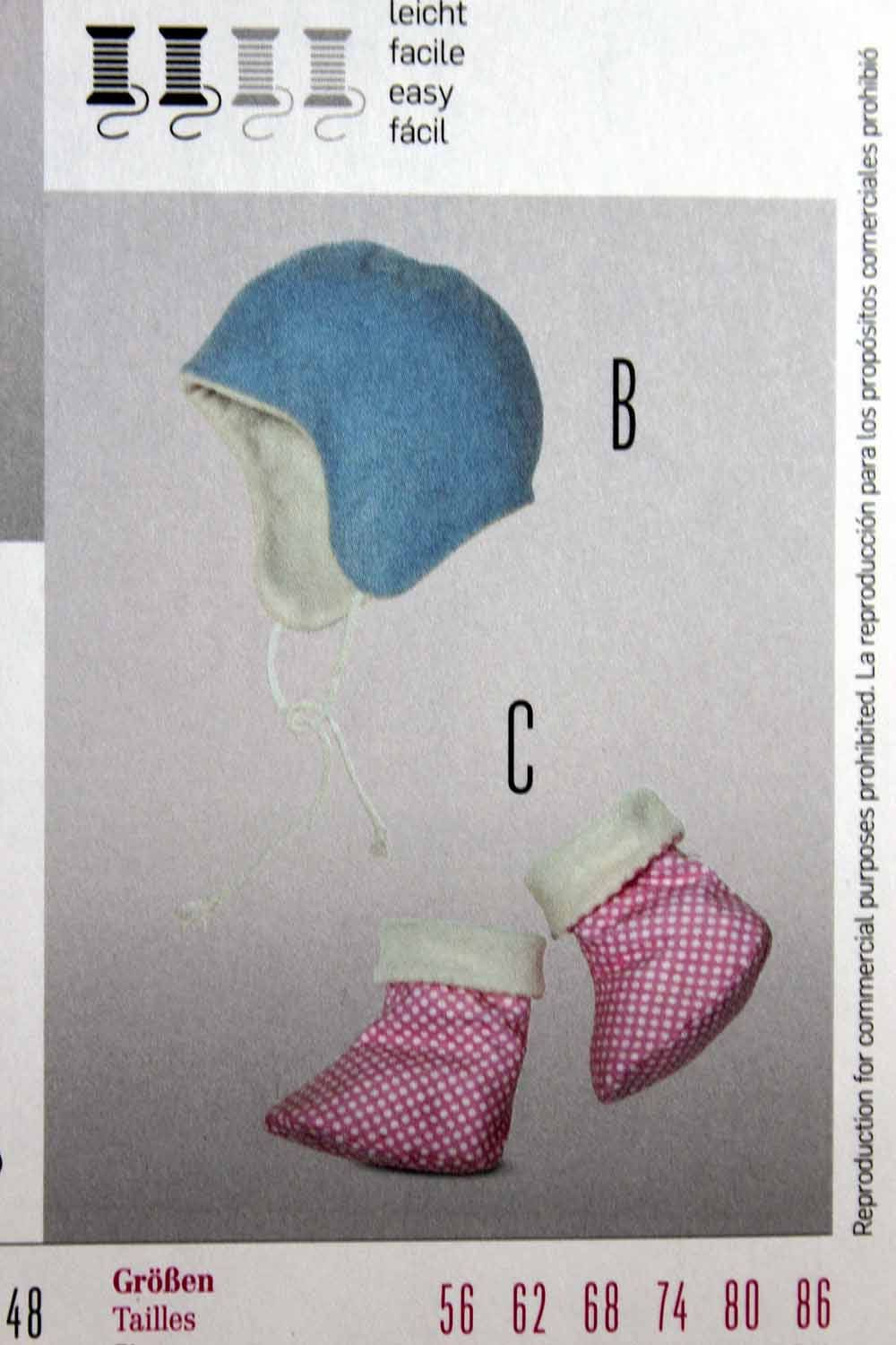 Burda 9477 baby accessories sewing pattern baby hat sewing 325 shipping jeuxipadfo Image collections