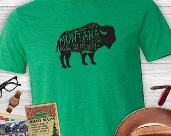 Montana Buffalo Arrows Unisex T-Shirt- Big Sky Country Montana shirt, buffalo tee
