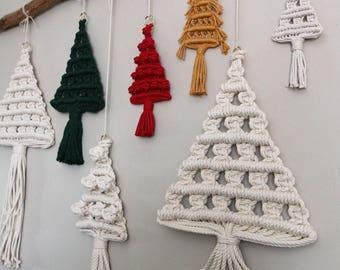 Macrame Christmas Tree Forest