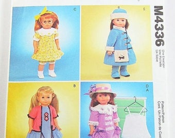 On Sale McCalls Doll Clothes Pattern M4336 -  18 Inch Doll Clothes - American Girl