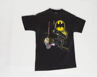 90s Batman t shirt DC Comics Batman Returns with Catwoman and Penguin tee