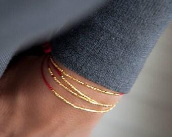 Delicate friendship bracelet, minimalistic bracelet, dainty wish bracelet