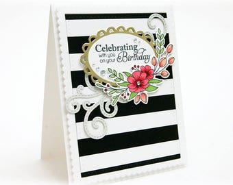 Celebrating With You On Your Birthday Greeting Card - BDAY 003