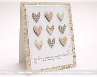 One Heart Is Not Enough Greeting Card - LOVE 001