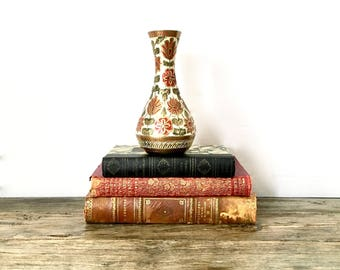 Brass Vase with a colourful design