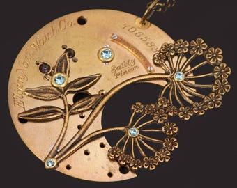 Dandelion Wish Necklace Dandelion Necklace Steampunk Necklace Dandelion Jewelry Steampunk Jewelry