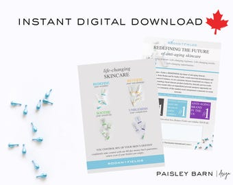 INSTANT DOWNLOAD Product Marketing CARDS 5x7 Canada | Skincare business  Rodan+Fields personalized | R+F anti-aging flyers flyer