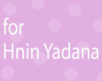 for Hnin Yadana