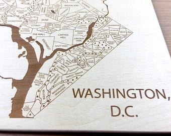 Washington D.C. Map - Neighborhood Adams Morgan Shaw Foggy Bottom Langdon K Street Chevy Chase American University Map Potomac Georgetown