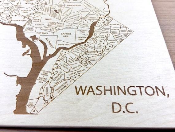 Washington DC Map Neighborhood Adams Morgan Shaw Foggy