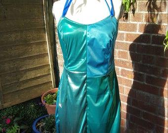 Metallic Patchwork Mini Dress