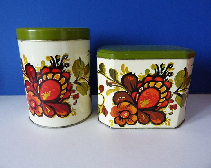 Storage Tins Vintage Tea Coffee Kitchenware