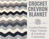 Chevron Blanket Crochet P...