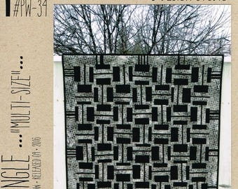 "Modern Mingle multi-size quilt pattern - Joanie Morrow for Patternworkz - 48"" x 60"" to 96"" x 108"""