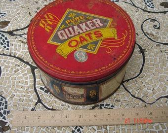 Vintage Pure Quaker Oats Tin - Quaker Oats Company - Limited Edition