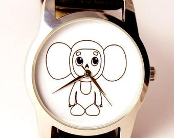 ON SALE 25% OFF Cheburashka watch, unisex watch, women watch, men wrist watch