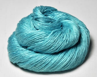 Cyan which must not be named - Fleece Silk Lace Yarn - LIMITED EDITION - LSOH
