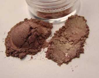 Taupe and Gold Shimmer Duochrome Mineral Eyeshadow - DRAGONFLY