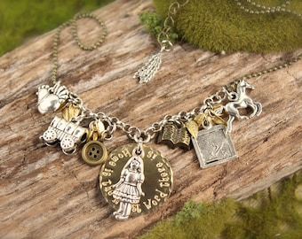 Little House on the Prairie Inspired Charm Home Necklace