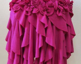 Rosebloon color skirt with roses decoration limited editon only 1 in the whole world plus mad in USA (V149)
