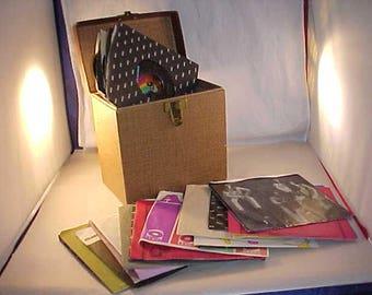 25 Vinyl 45 Records With Record Case 1970s
