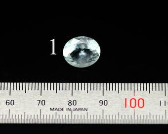 natural aquamarine faceted cabochon