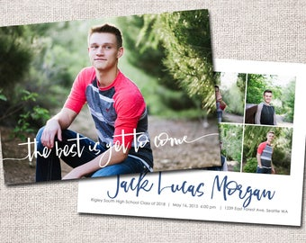 "Graduation Announcement, Graduation Invitation, Photo Graduation Announcement, Graduation Party, Printable Graduation Announcement (""Jake"")"