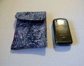 Lavender Leaf Batik Cell Phone /Flip Phone Case