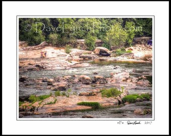 Richmond VA Virginia - Pony Pasture - Scenic - James River Park - Rapids - Kayak - Canoe - Fish-Art Prints by Richmond VA  Photog Dave Lynch
