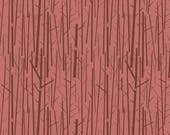 Organic KNIT Fabric - Charley Harper Western Birds - Perch Rose Knit