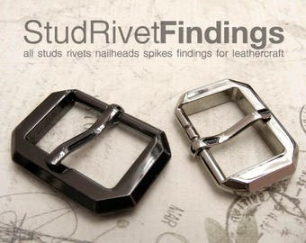 4pcs ZINC FACET Side Purse Belt Buckles with Single Prong for Purse Straps / High Quality