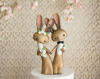 Jackalope Wedding Cake Topper by Bonjour Poupette