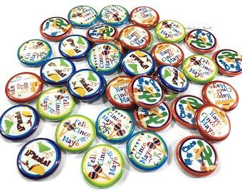 "Cinco De Mayo, 1"" Button, Cinco De Mayo Pin, May 5th, Cinco De Mayo Birthday, Cinco De Mayo Party Favor, Cinco De Mayo Flatback, Fiesta, Pin"
