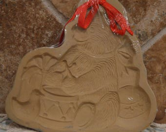 """Vintage 1985 Christma Teddy Bear Cookie Mold by Brown Bag~About 5 3/4"""" x 6"""""""