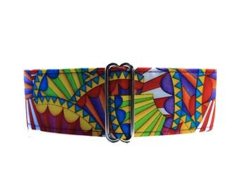Martingale Collar Greyhound Collar, Hot Air Balloon Martingale Collar, Colorful Dog Collar, Rainbow Dog Collar, Wide Dog Collar