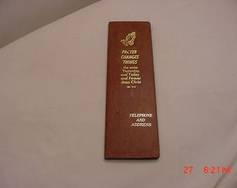 Vintage Religious Telephone & Address Book Unused  17 - 1390