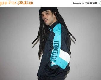 On SALE 45% Off - 1990s Vintage Puma Colorblock Hip Hop Windbreaker Jacket - 90s Windbreakers - 90s Clothing - MV0112