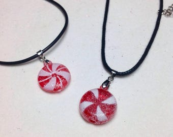 Candy Necklace/Peppermint Candy Necklace/Sweet Lolita/Christmas Candy Jewelry/Peppermint Candy Jewelry