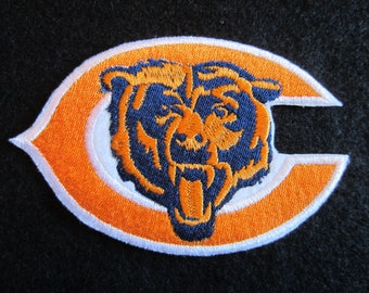 Embroidered Chicago Bears Logo Iron On Patch, Chicago Bears, Football Patch, Iron On Applique,